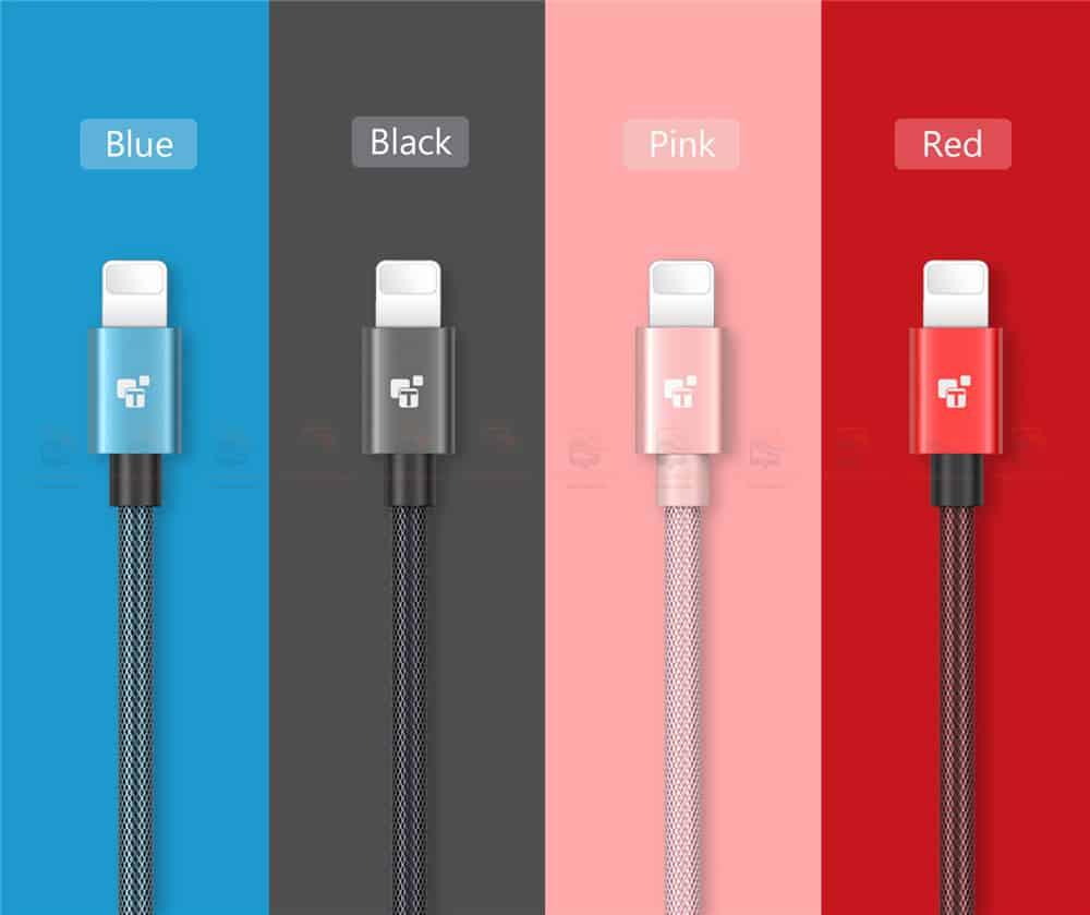 สายชาร์จไอโฟน TIEGEM Tanpow-K series Alloy Aluminum Nylon Fast Charging For iPhone X 8 7 6_11