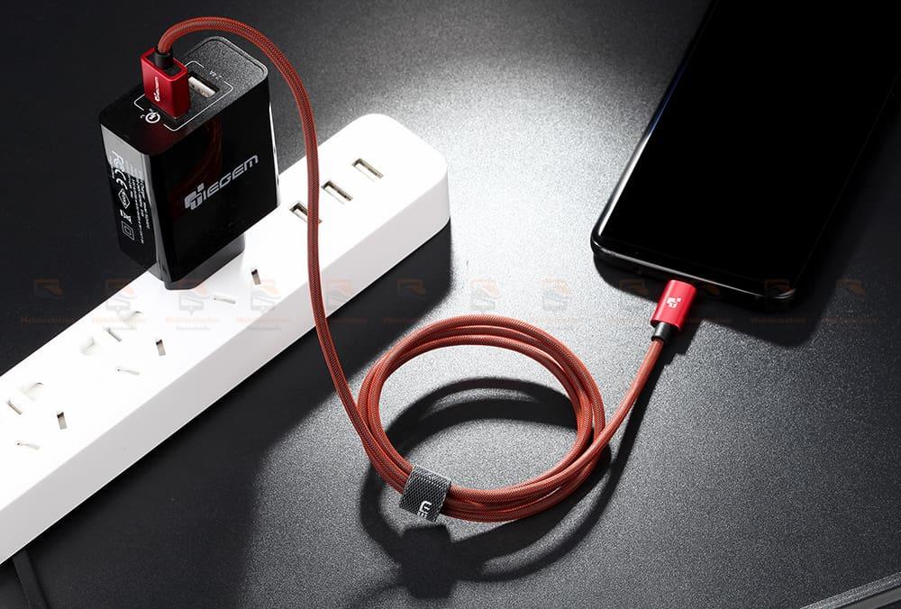 สายชาร์จไอโฟน TIEGEM Tanpow-K series Alloy Aluminum Nylon Fast Charging For iPhone X 8 7 6_14