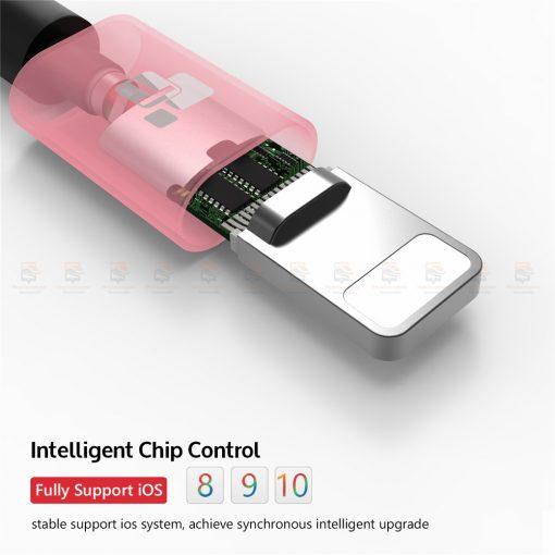 สายชาร์จไอโฟน TIEGEM Tanpow-K series Alloy Aluminum Nylon Fast Charging For iPhone X 8 7 6_5