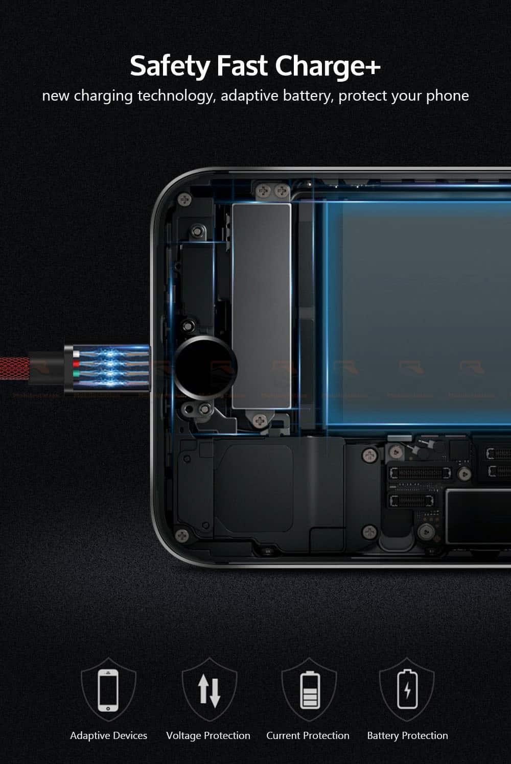 สายชาร์จไอโฟน TIEGEM Tanpow-K series Alloy Aluminum Nylon Fast Charging For iPhone X 8 7 6_6