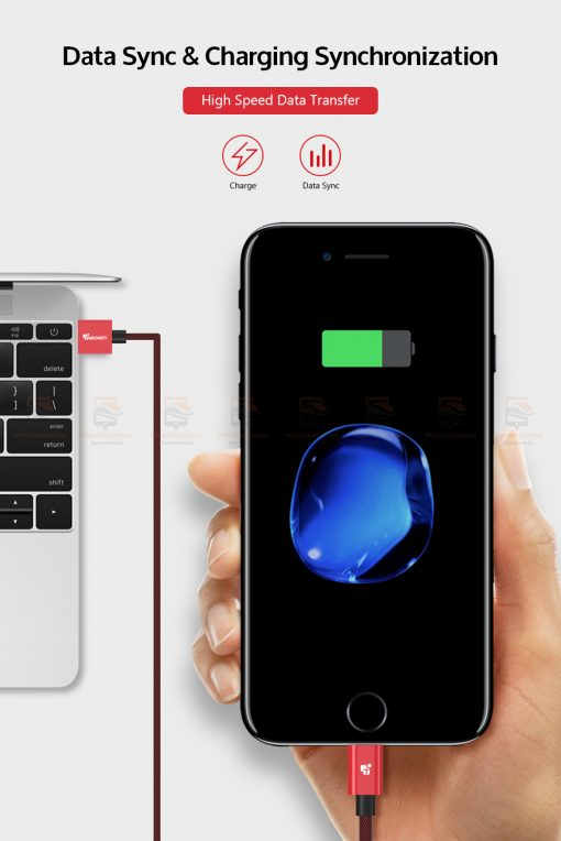 สายชาร์จไอโฟน TIEGEM Tanpow-K series Alloy Aluminum Nylon Fast Charging For iPhone X 8 7 6_7