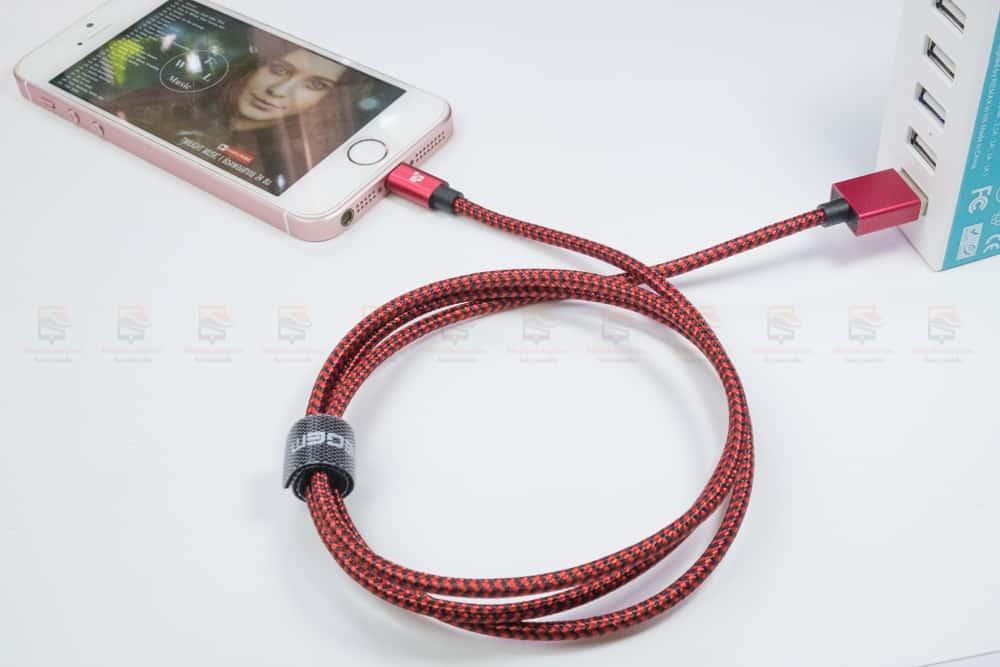 สายชาร์จไอโฟน Tiegem Tanpow Series USB Charger Cable for iPhone X-7-8-6-5 Cable Fast Charger สินค้าจริง