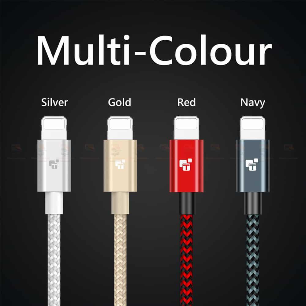 สายชาร์จไอโฟน Tiegem Tanpow Series USB Charger Cable for iPhone X-7-8-6-5 Cable Fast Charger 12