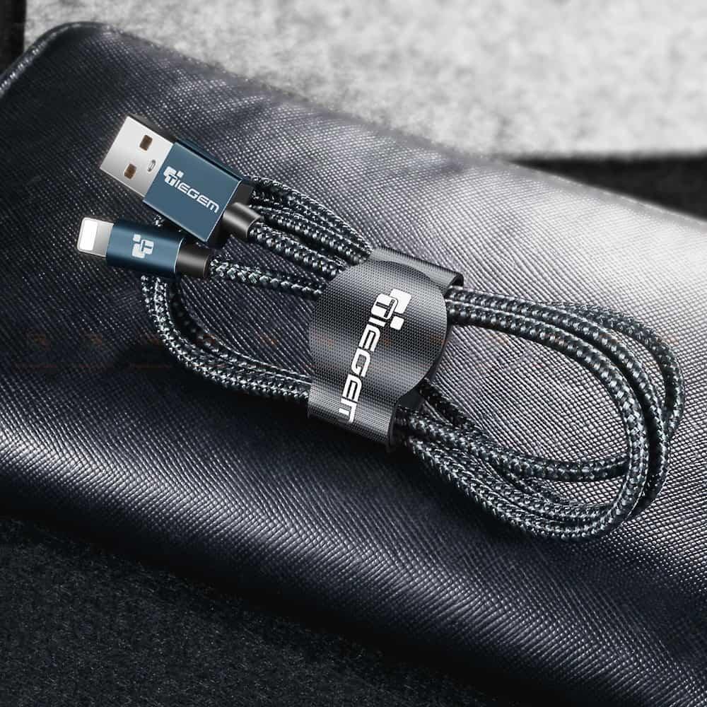 สายชาร์จไอโฟน Tiegem Tanpow Series USB Charger Cable for iPhone X-7-8-6-5 Cable Fast Charger 17