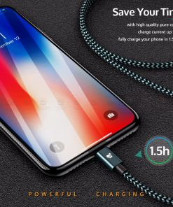 สายชาร์จไอโฟน Tiegem Tanpow Series USB Charger Cable for iPhone X-7-8-6-5 Cable Fast Charger 4