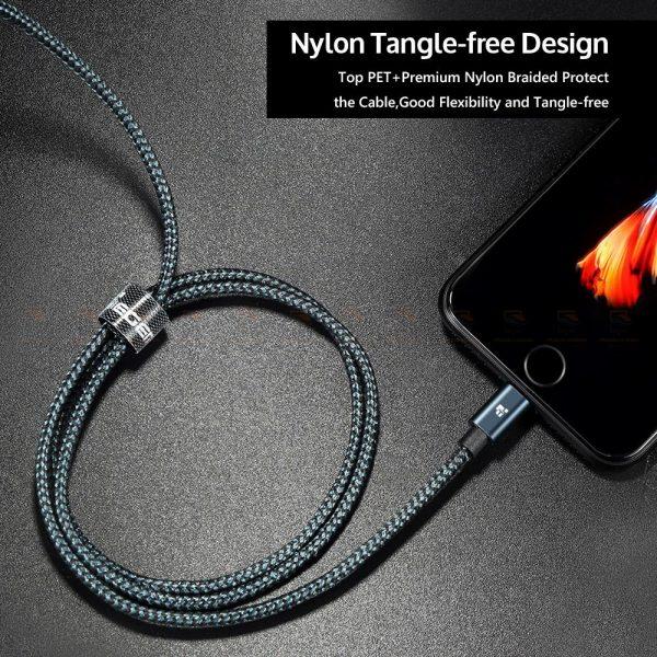 สายชาร์จไอโฟน Tiegem Tanpow Series USB Charger Cable for iPhone X-7-8-6-5 Cable Fast Charger 7