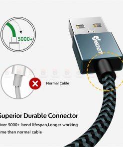 สายชาร์จไอโฟน Tiegem Tanpow Series USB Charger Cable for iPhone X-7-8-6-5 Cable Fast Charger 8