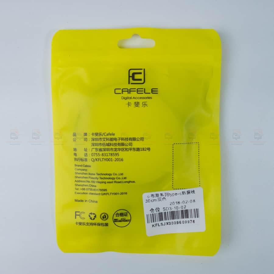 สายชาร์จ Type C Cafele USB Cable Fast Charging Data Cable for Samsung Galaxy S8S8+,HTC,LG,Huawei,Sony,New Macbook,GoPro5 30Cm รูปสินค้าาจริง-2