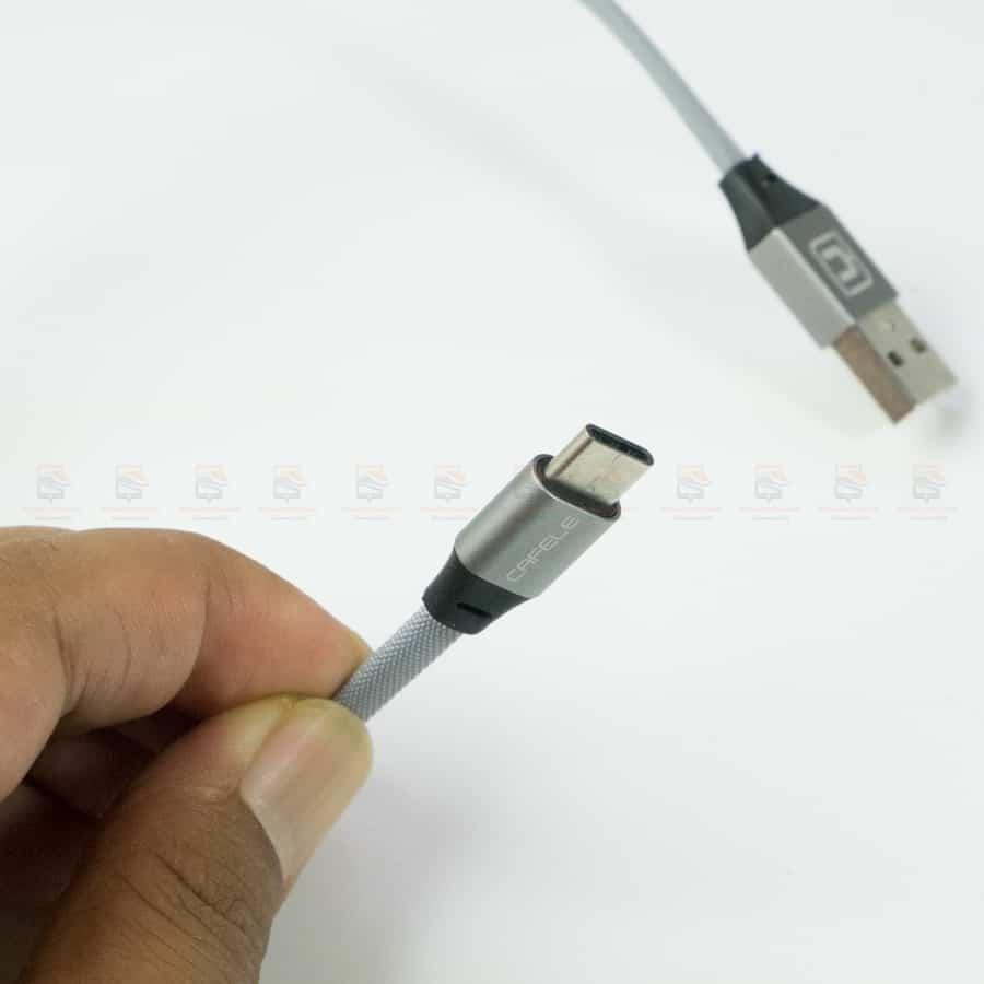 สายชาร์จ Type C Cafele USB Cable Fast Charging Data Cable for Samsung Galaxy S8S8+,HTC,LG,Huawei,Sony,New Macbook,GoPro5 30Cm รูปสินค้าาจริง-6