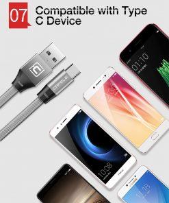 สายชาร์จ Type C Cafele USB Cable Fast Charging Data Cable for Samsung Galaxy S8S8+,HTC,LG,Huawei,Sony,New Macbook,GoPro5 30Cm-10