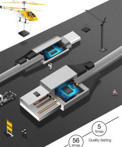 สายชาร์จ Type C Cafele USB Cable Fast Charging Data Cable for Samsung Galaxy S8S8+,HTC,LG,Huawei,Sony,New Macbook,GoPro5 30Cm-2