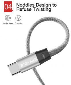 สายชาร์จ Type C Cafele USB Cable Fast Charging Data Cable for Samsung Galaxy S8S8+,HTC,LG,Huawei,Sony,New Macbook,GoPro5 30Cm-7