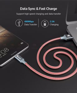 สายชาร์จ Type C TIEGEM USB Type C Cable USB 2.0 Type-C Nylon Cable Data Sync Fast Charge USB C Cable_6