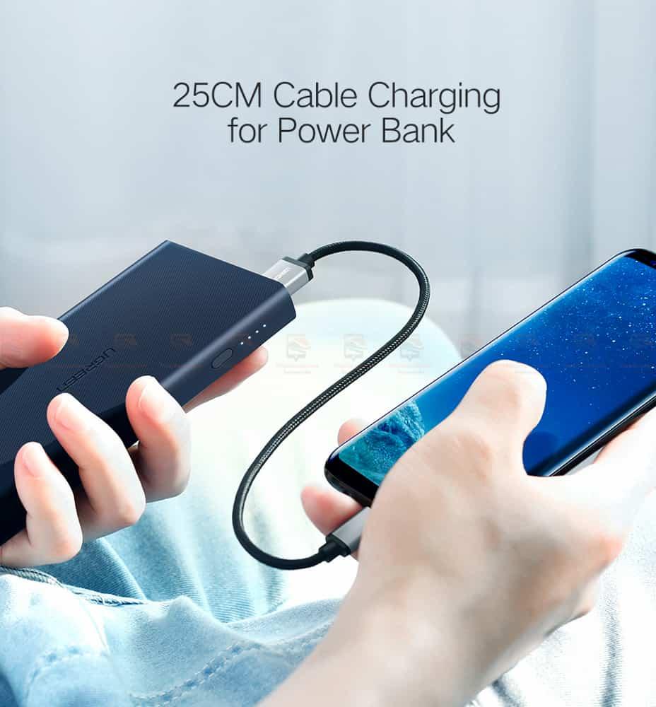 สายชาร์จ Type C Ugreen Nylon USB Cable for Xiaomi Mi5 Type-C Fast Charging Data Cable for Samsung Galaxy S8 Nexus 5X 6P OnePlus 2 USB C-10