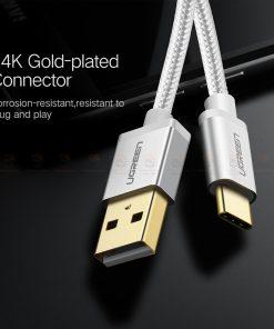 สายชาร์จ Type C Ugreen Nylon USB Cable for Xiaomi Mi5 Type-C Fast Charging Data Cable for Samsung Galaxy S8 Nexus 5X 6P OnePlus 2 USB C-7