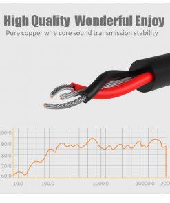 สาย Aux Cable 3.5mm Vention Jack Audio Cable 24k Gold-plated for iPhone Car Headphone Speaker ยาว 1.5 เมตร-3