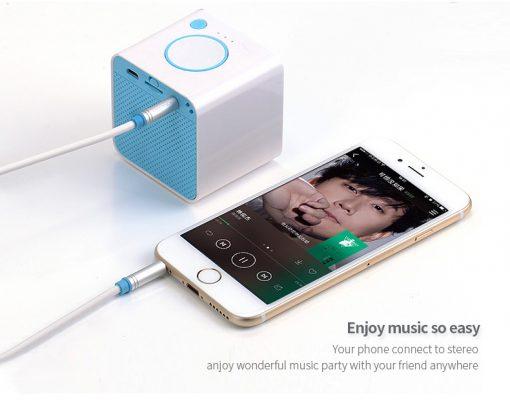 สาย Aux Cable 3.5mm Vention Jack Audio Cable 24k Gold-plated for iPhone Car Headphone Speaker ยาว 1.5 เมตร-6
