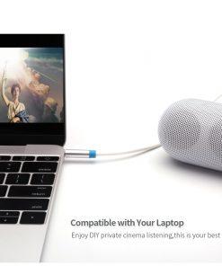 สาย Aux Cable 3.5mm Vention Jack Audio Cable 24k Gold-plated for iPhone Car Headphone Speaker ยาว 1.5 เมตร-7