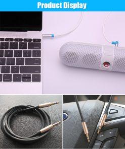สาย Aux Cable 3.5mm Vention Jack Audio Cable 24k Gold-plated for iPhone Car Headphone Speaker ยาว 1.5 เมตร-9