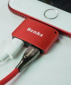 Lightning Adapter แยก 1 เป็น 2 ฟังเพลง พร้อมชาร์จ Benks แท้ For iPhone 7 8 X 10 รูปสินค้าาจริง-5