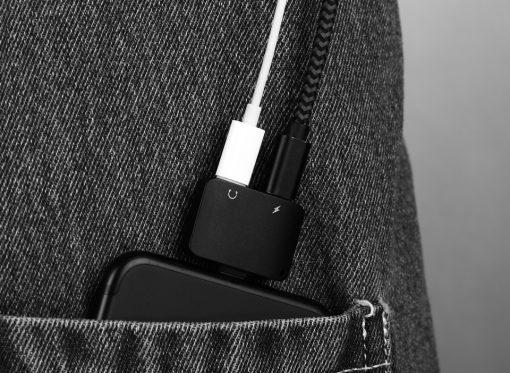Lightning Adapter แยก 1 เป็น 2 ฟังเพลง พร้อมชาร์จ Benks แท้ For iPhone 7 8 X 10 -8