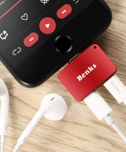 Lightning Adapter แยก 1 เป็น 2 ฟังเพลง พร้อมชาร์จ Benks แท้ For iPhone 7 8 X 10 -9