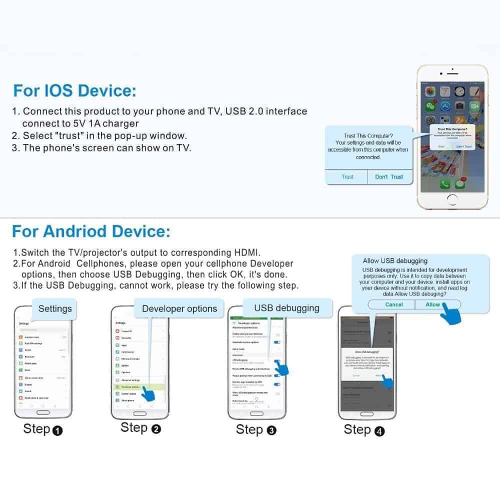 วิธีตั้งค่า ต่อมือถือเข้าทีวี iPhone android 22