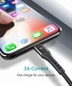 สายชาร์จไอโฟน TIEGEM Nylon Fast Charging Cable For iPhone X 8 7 6_