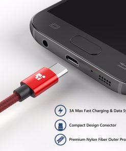 สายชาร์จ Samsung TIEGEM Tanpow-K series Alloy Aluminum Nylon Fast Charging For Android 1