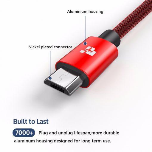 สายชาร์จ Samsung TIEGEM Tanpow-K series Alloy Aluminum Nylon Fast Charging For Android 4