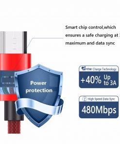 สายชาร์จ Samsung TIEGEM Tanpow-K series Alloy Aluminum Nylon Fast Charging For Android 5