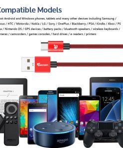 สายชาร์จ Samsung TIEGEM Tanpow-K series Alloy Aluminum Nylon Fast Charging For Android 8