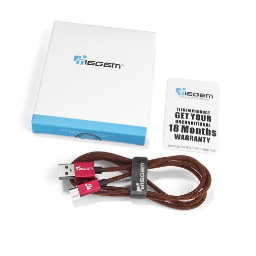 สายชาร์จ Samsung TIEGEM Tanpow-K series Alloy Aluminum Nylon Fast Charging For Android 9