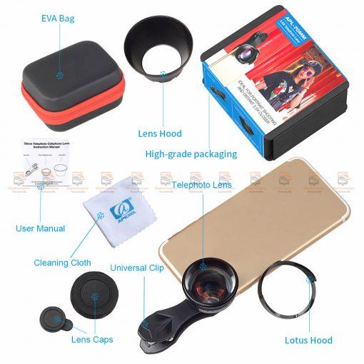 เลนส์มือถือ หน้าชัดหลังเบลอ APEXEL Professional phone Lens HD bokeh portrait-10