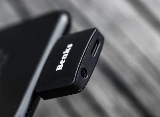 Lightning audio adapter แยก 1 เป็น 2 ฟังเพลง พร้อมชาร์จ Benks แท้ For iPhone 7 8 X_4