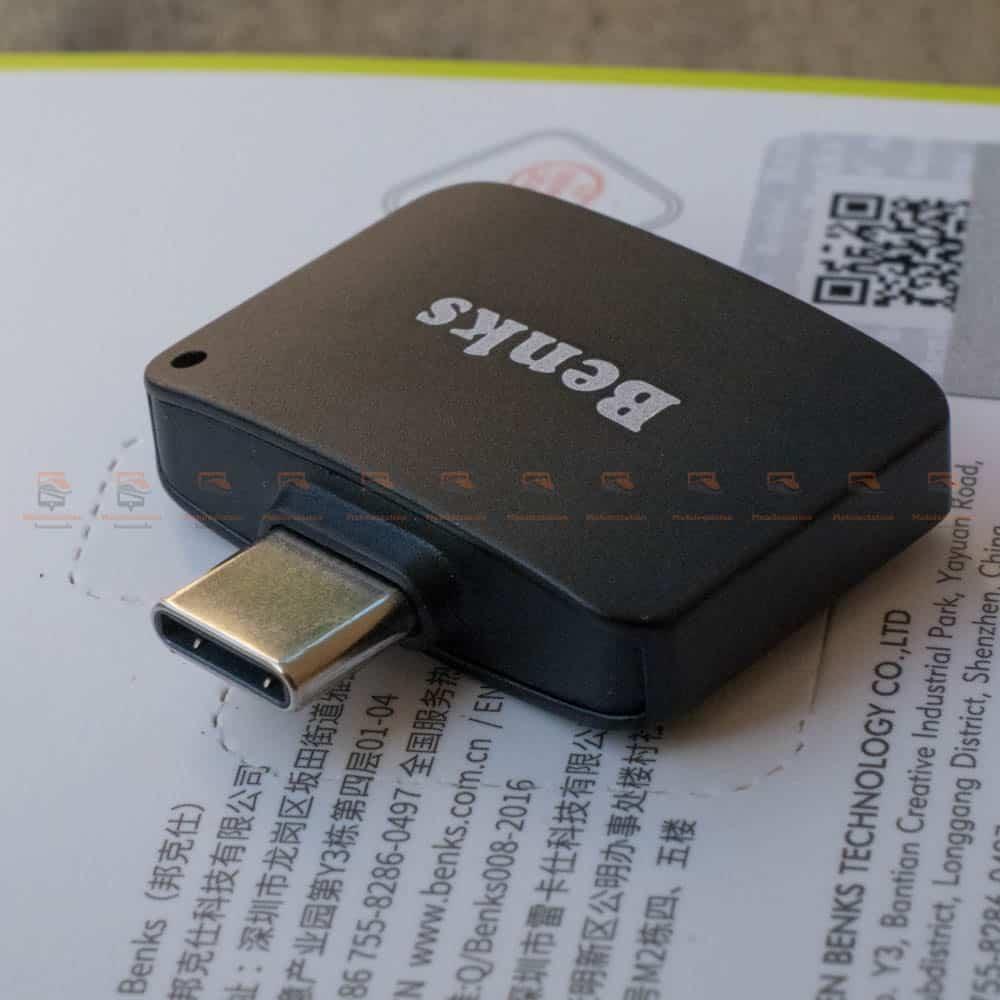 Type-C Aux Audio Cable Adapter USB Type C to 3.5mm ชาร์จแบต พร้อมฟังเพลง Benks_11