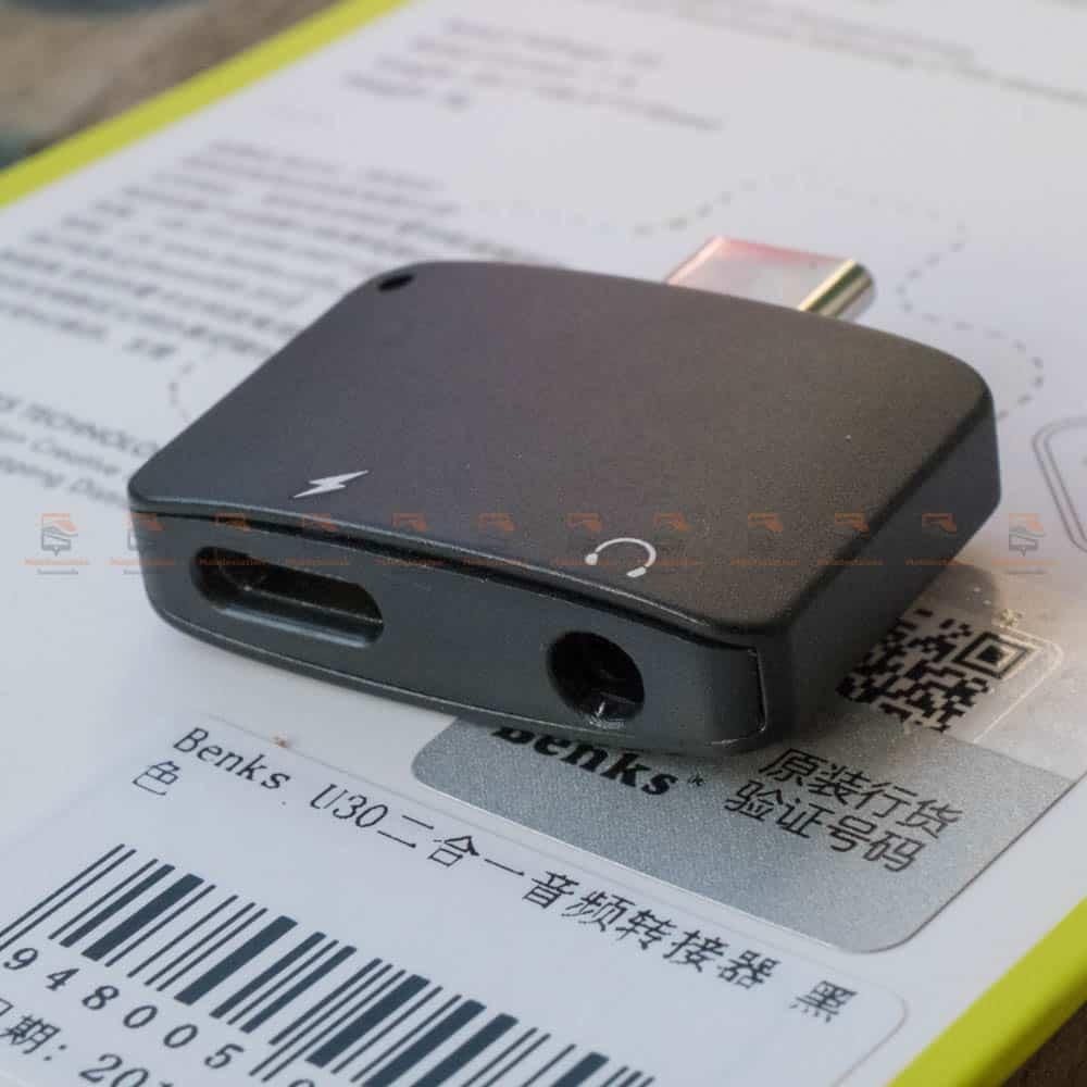 Type-C Aux Audio Cable Adapter USB Type C to 3.5mm ชาร์จแบต พร้อมฟังเพลง Benks_12