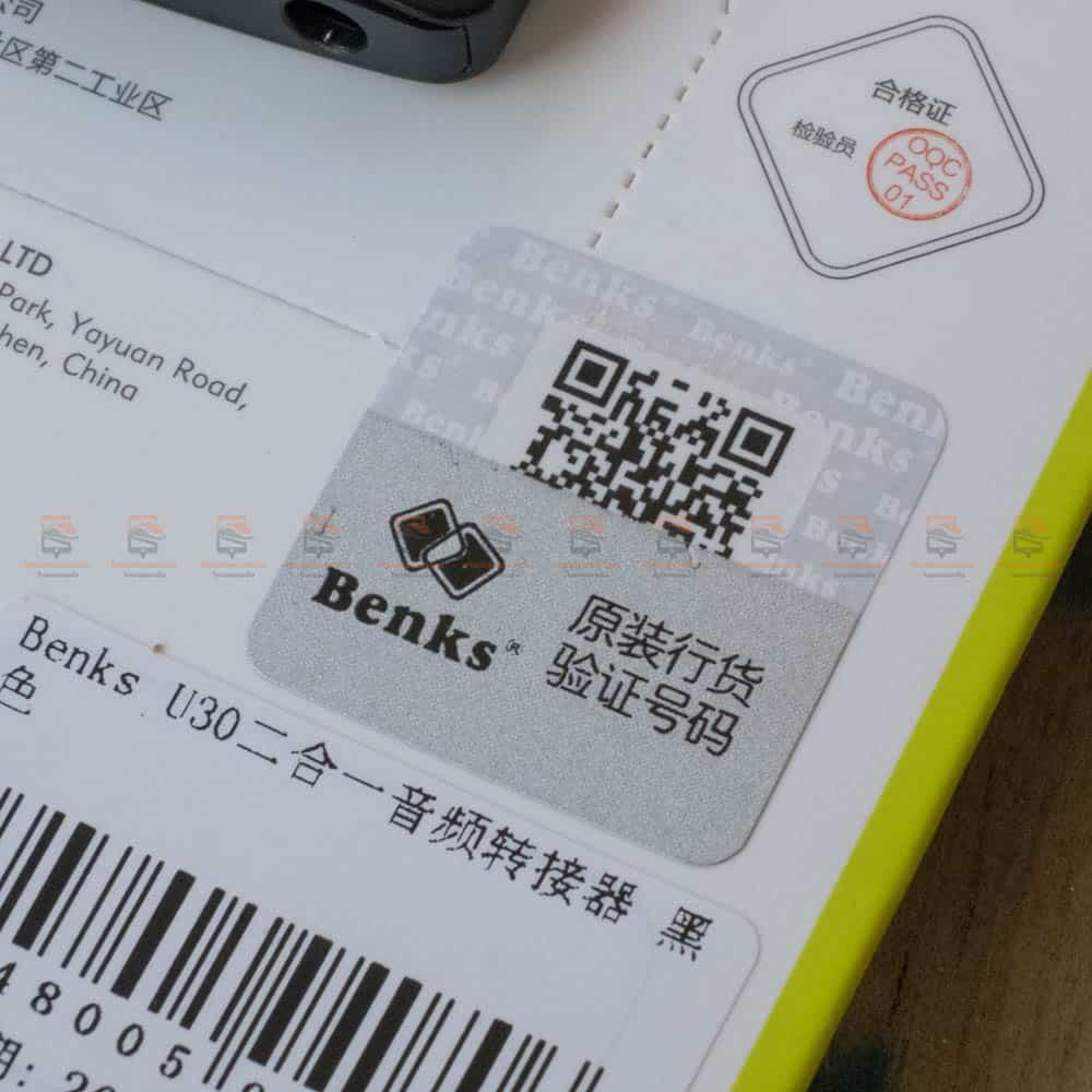 Type-C Aux Audio Cable Adapter USB Type C to 3.5mm ชาร์จแบต พร้อมฟังเพลง Benks_13