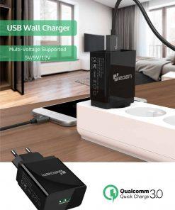 ที่ชาร์จแบต TIEGEM Quick Charge 3.0 USB Adapter 18W for Samsung iphone android 1