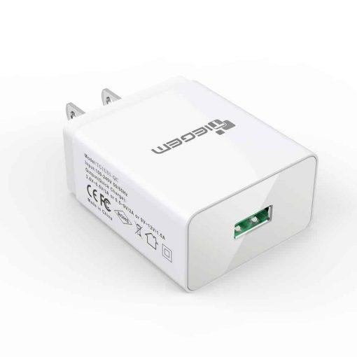 ที่ชาร์จแบต TIEGEM Quick Charge 3.0 USB Adapter 18W for Samsung iphone android 12
