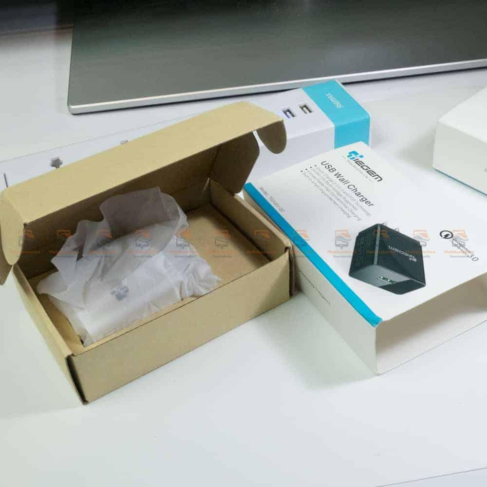 ที่ชาร์จแบต TIEGEM Quick Charge 3.0 USB Adapter 18W for Samsung iphone android-3