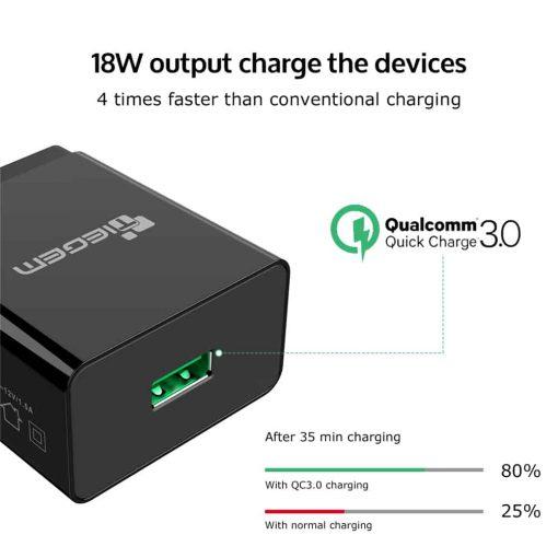 ที่ชาร์จแบต TIEGEM Quick Charge 3.0 USB Adapter 18W for Samsung iphone android 4