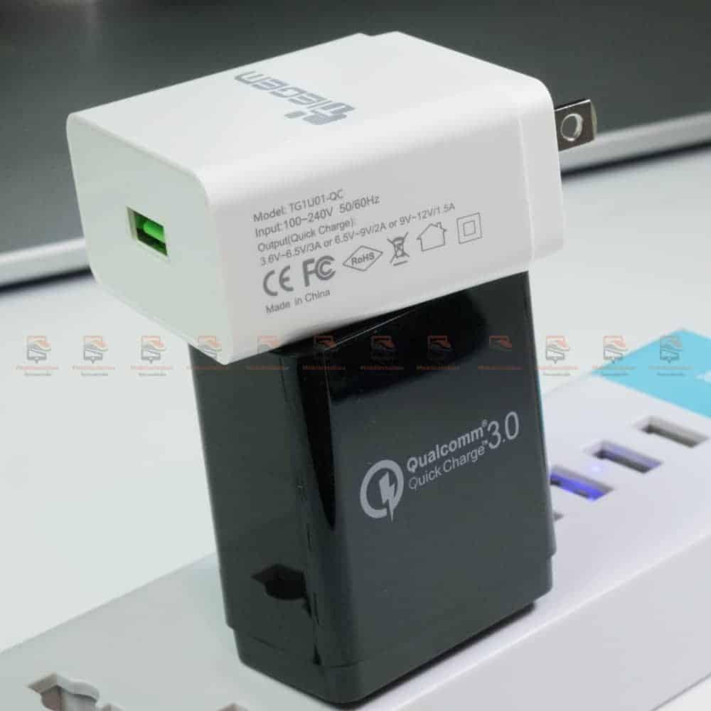 ที่ชาร์จแบต TIEGEM Quick Charge 3.0 USB Adapter 18W for Samsung iphone android-8