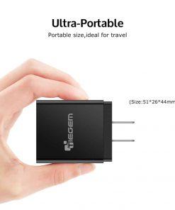 ที่ชาร์จแบต TIEGEM Quick Charge 3.0 USB Adapter 18W for Samsung iphone android 8