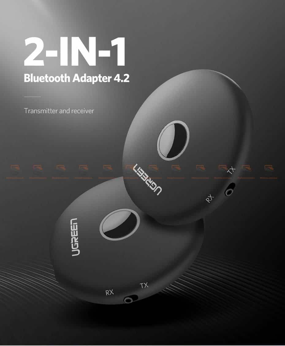 บลูทูธรถยนต์ Ugreen Aptx Bluetooth Transmitter Receiver Stereo Audio Music Adapter-1