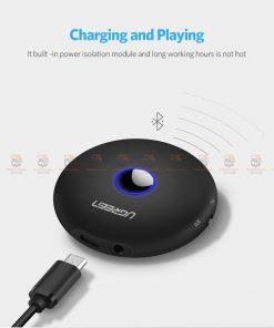 บลูทูธรถยนต์ Ugreen Aptx Bluetooth Transmitter Receiver Stereo Audio Music Adapter-13