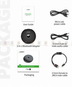 บลูทูธรถยนต์ Ugreen Aptx Bluetooth Transmitter Receiver Stereo Audio Music Adapter-17