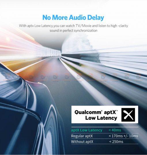 บลูทูธรถยนต์ Ugreen Aptx Bluetooth Transmitter Receiver Stereo Audio Music Adapter-4