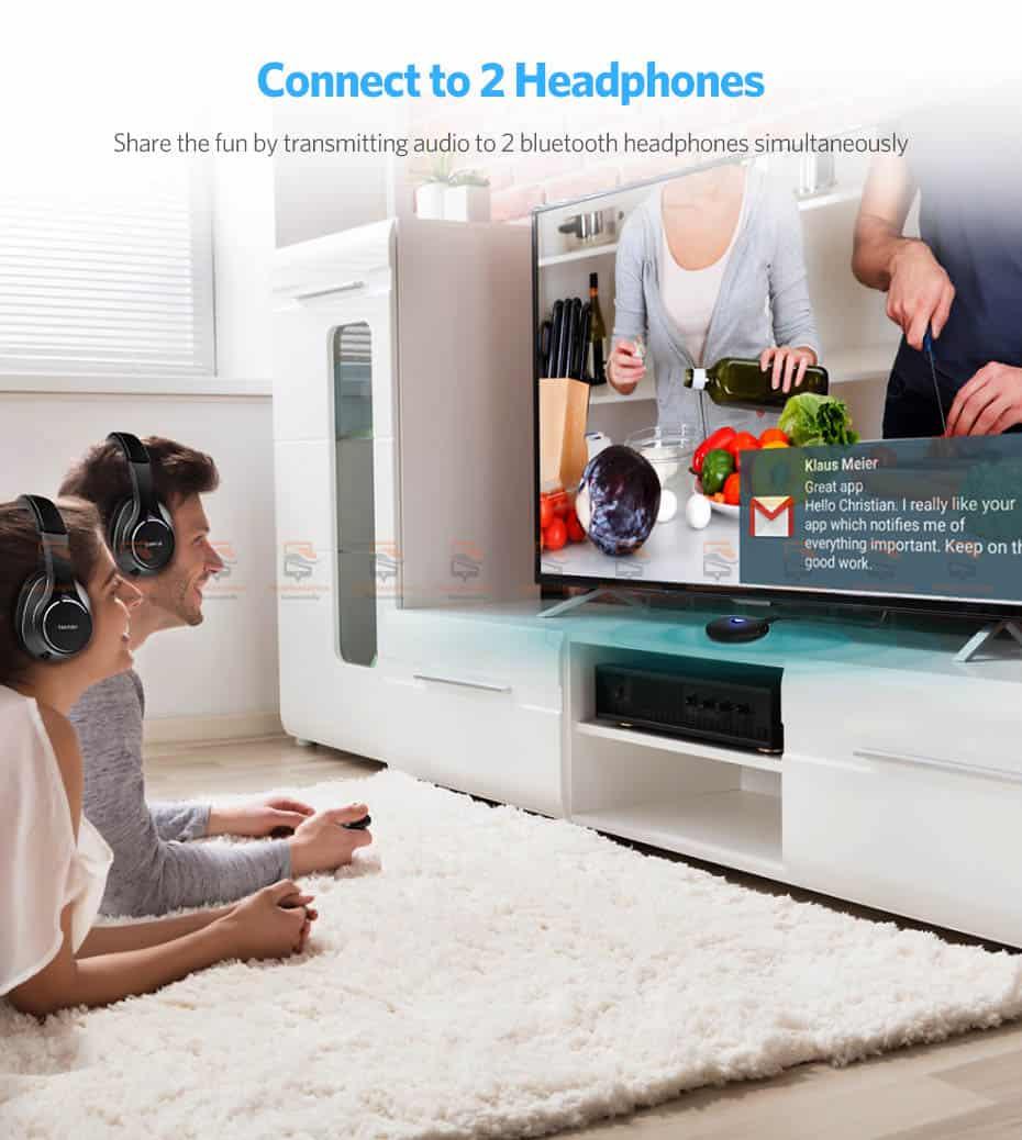 บลูทูธรถยนต์ Ugreen Aptx Bluetooth Transmitter Receiver Stereo Audio Music Adapter-6