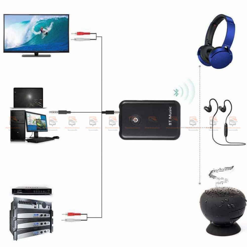 บลูทูธรถยนต์ Wireless Bluetooth Transmitter Receiver Stereo Audio Music Adapter-04